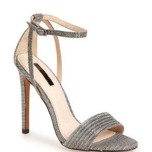Topshop Gunmetal Heeled Sandal